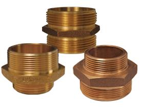 Double Male Hex Nipple Brass