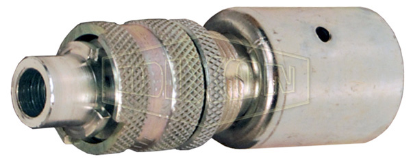 Dix-Lock™ N-Series Bowes Interchange Safety-Lock Hose Barb Plug with Staked Ferrule