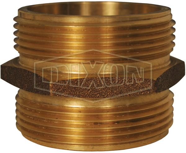 Domestic Double Male Hex Nipple Brass