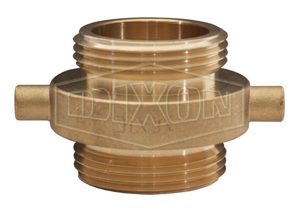 Double Male Pin Lug Brass