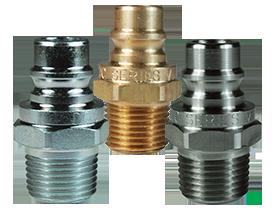 DQC V-Series Snap-Tite H/IH Interchange Unvalved Male Plug