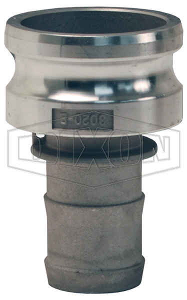 Global Cam & Groove Jump Size Type E Adapter x Hose Shank