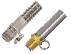 Straight Swivel x Hose Shank Connector for Spray Gun