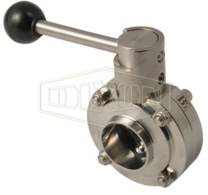 B5107 Series Butterfly Valve with Pull Handle Weld End