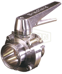 B5107 Series Butterfly Valve with Trigger Handle Clamp End